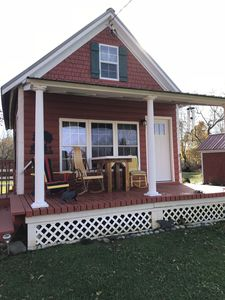 Photo for Adorable 1840 fully restored cottage on 15 acres that sleeps 4 w/mountain view