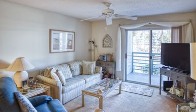 Photo for Sandwedge 104! Beautiful first floor 2 Bedroom Condo 1 block to Beach! Book now for best rates!