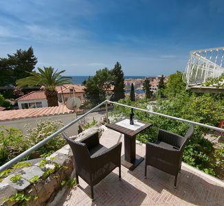 Photo for Dubrovnik Lora studio sea & OldTown view, Ploce area FREE PARKING