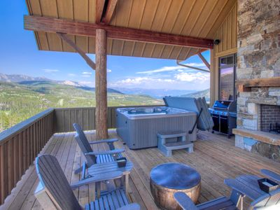 Photo for Amazing Views, Ski Access,  Private Hot Tub, & Large Real Wood Fireplace!