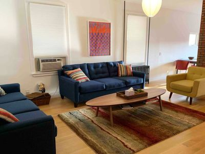 Photo for Modern 3 bed/ 2 bath Apt with on free onsite parking.  5 miles from Manhattan