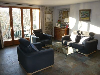 Photo for Luxurious apartment for two/three overlooking the river, rock pool/waterfal