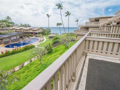 Photo for Kahana Sunset C4, 2 BD / 2 BA - Good times at this beach front Kahana oasis!