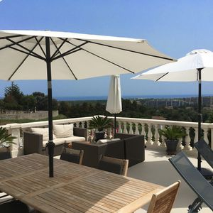 Photo for Villa with pool, sea view and Esterel Massif with terrace of 100m2