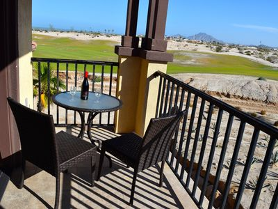Photo for Two level rental villa with golf course and beach view