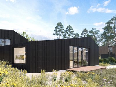 Photo for Modern sea lodge with 2 bathrooms and one loft in holiday park at 80m from sea