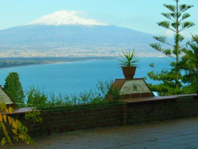Photo for Villa Cassina - Fabulous independent summer overlooking the sea / Etna volcano