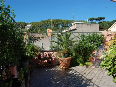 Photo for Trastevere Panoramic Terrace Apartment