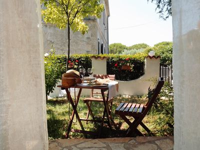 Photo for Apartamento Marina with magnificent garden, a few steps from the beach, barbecue