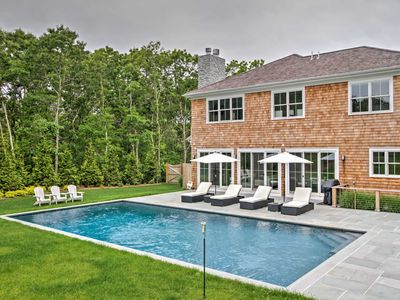 Photo for Luxury East Hampton Home w/Private Saltwater Pool!