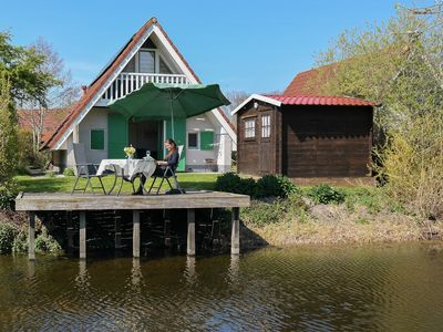 Photo for Home Julia w/ Sauna on a typical dutch canal, by National Park Lauwersmeer
