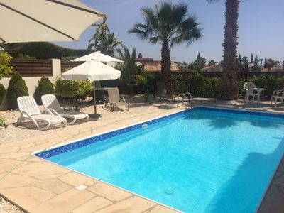 Photo for Detached three bedroom villa with private pool and garden