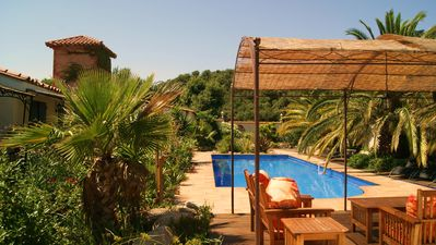 Photo for beautifull apartement with swimming pool and palm garden,mountains and see