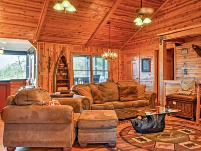 Photo for Upscale Helen Area Cabin w/ Hot Tub & Mtn. Views!