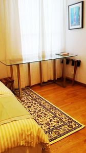 Office table and window