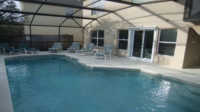 Photo for Luxury Villa with own South facing pool on gated Resort. Close to Disney