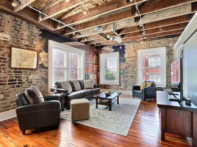 """Photo for Rest Well with Southern Belle Vacation Rentals at """"Corner Loft on Broughton"""""""