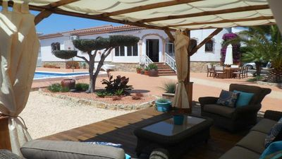 Photo for Family villa with Lovely garden and Large Pool  & Fully Air Conditioned