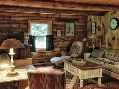 Photo for Log Cabin Family Getaway!  Great Location - Directly on Snow Mobile Trail, Minutes from Lake, Skiing