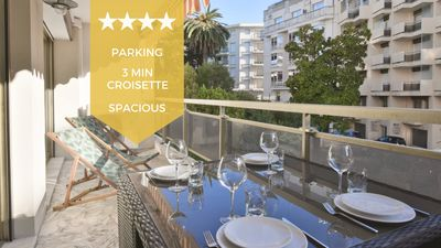 Photo for KIKILOUE – 2-bedroom apartment with terrace & parking, heart of Cannes!