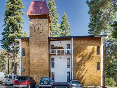 Photo for Dog-friendly condo with mountain views, a deck, and a free shuttle to skiing!