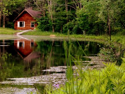 Photo for Cozy, Romantic Cabin Situated Next To Private Spring-fed Pond