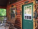 Front Entrance of Bear Haven Cabin
