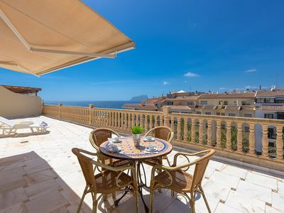 Photo for CAP D'OR, penthouse with panoramic views in Moraira,100m from the sea free wifi