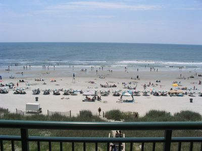 Magnificent 180 degree view of the beach from our 4th floor condo