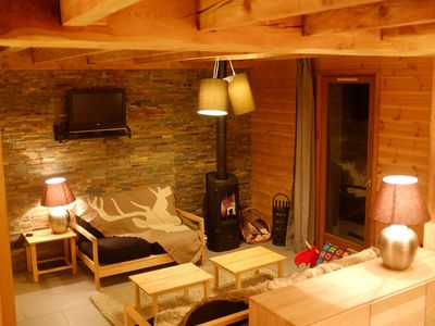 Photo for At the foot of the 2 Alpes with sauna access, jacuzzi, hammam. Mountain view terrace.