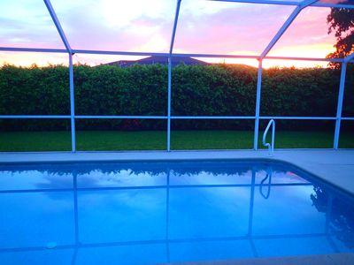 Photo for SW Cape Coral Home w Very Private Heated Pool and Great Sunsets