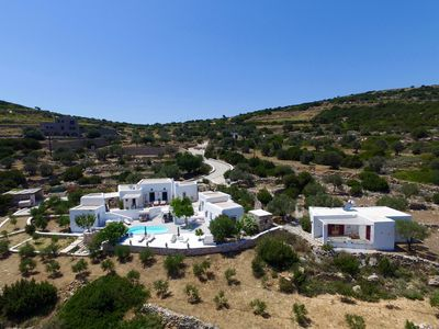 Photo for Villa Cycladic style with pool and stunning 180 ° views