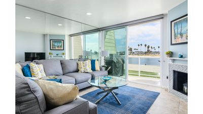 Views of Sail Bay from your premium sofa.