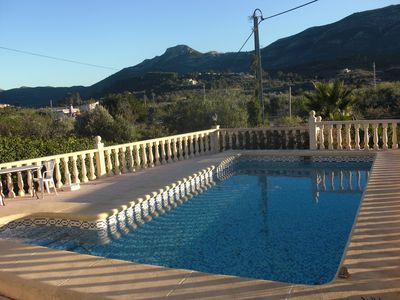 Pool and view to Parcent beyond