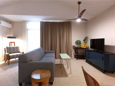 Photo for Completely Renovated, trendy 1 bedroom condo in the heart of Waikiki. White Sands Hotel #250