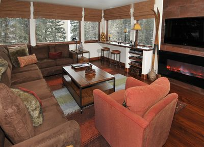 Comfortable Living Room with beautiful mountain views