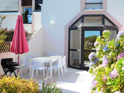 Photo for Gîte 3 * Tt Cft, free WiFi. Private terrace, Swimming pool 28 °, Tennis, Parking