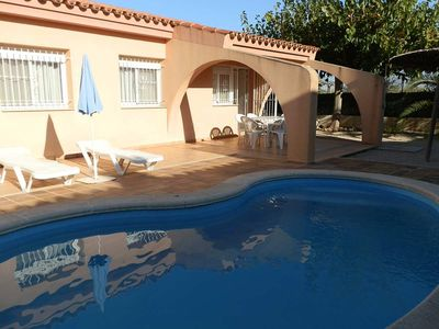 Photo for CASA Mª CARMEN,Ideal house for your holidays near the sea, free wifi, air conditioning, private pool, pets allowed, dog's beach.