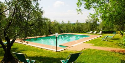 Photo for Malmantile- 4 bd stone villa with pool and tennis court near Florence