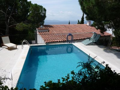 Photo for Enjoy your holidays in a large house with a large patio of 100m2 and barbecue, swimming pool