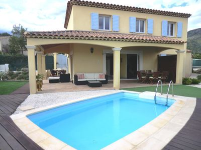 Photo for NICE QUIET VILLA WITH GARDEN AND POOL CLOSE TO THE BEACH