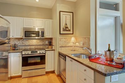 Fully stocked kitchen for those nights you want to stay in and cook
