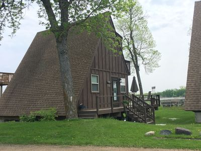 Our cabin - #15.  Situated on the peninsula directly on Grass Lake.