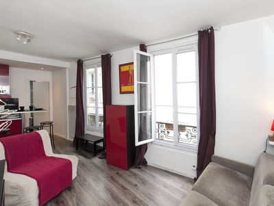 Photo for Cosy studio apartment, for up to three guests, situated close to the Luxembourg Gardens in Paris?s c