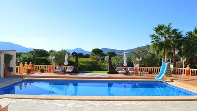 Photo for Luxury villa, large salt water pool, ideal for families, array of beaches 15 min