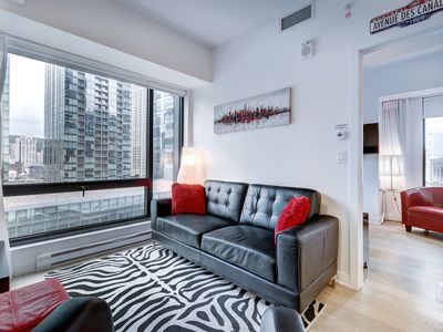 Photo for Amazing Luxury 1 BDR new Condo - Downtown MTL at the Bell Center with Views of Mount Royal