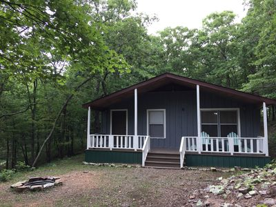 Photo for Comfortable and cozy two bed one bath cabin nestled in the Kiamichi Mountains