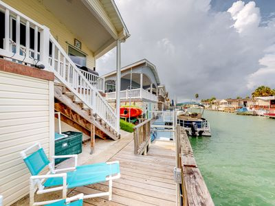 Photo for Beautiful waterfront home w/ private dock, shared pool, hot tub