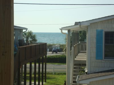 Ocean view from the covered deck