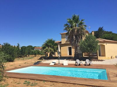 Photo for Spacious villa (154 m2), fenced garden (2000 m²), with private pool